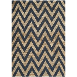 Safavieh Hand-knotted Organic Blue/ Natural Wool Rug (8' x 10')
