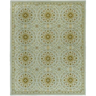 Safavieh Hand-made Chelsea Teal/ Green Wool Rug (8'9 x 11'9)
