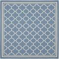 Safavieh Indoor/ Outdoor Courtyard Blue/ Beige Rug (7'10 Square)