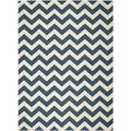 Safavieh Chevron Pattern Indoor/Outdoor Courtyard Navy/Beige Rug (9' x 12')