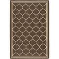 Safavieh Indoor/Outdoor Courtyard Chocolate/Cream Area Rug (4' x 5'7