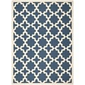 Safavieh Indoor/Outdoor Courtyard Navy/Beige Polypropylene Rug (8' x 11')