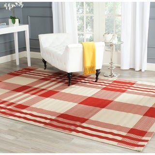 Safavieh Indoor/ Outdoor Courtyard Red/ Bone Rug (9' x 12')