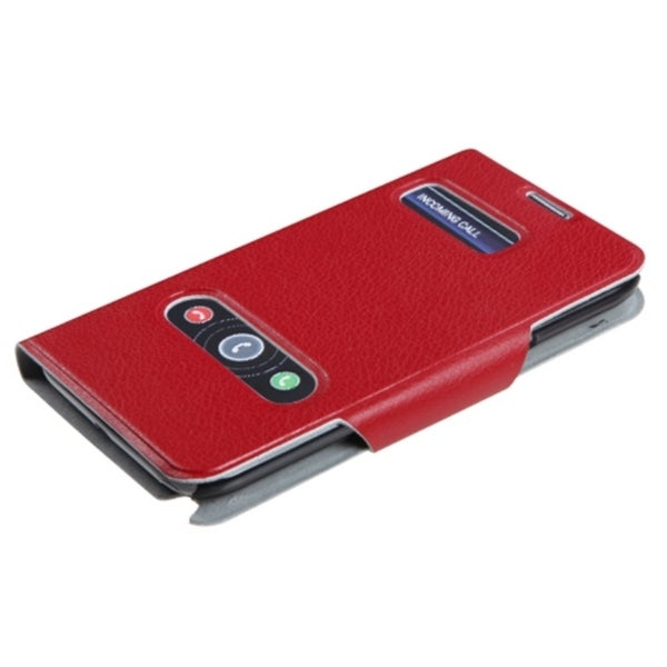 INSTEN Red Wallet Phone Case Cover for Samsung Galaxy Note II T998/ I605