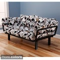 Somette Eli Spacely Multi-Flex Black Metal Daybed Lounger with Mattress and Pilllow Set