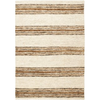 Safavieh Hand-knotted Bohemian Natural/ Rust Wool Rug (8' x 10')