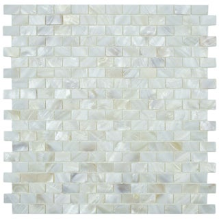 SomerTile Seashell Subway White Mosaic Tile (Pack of 10)