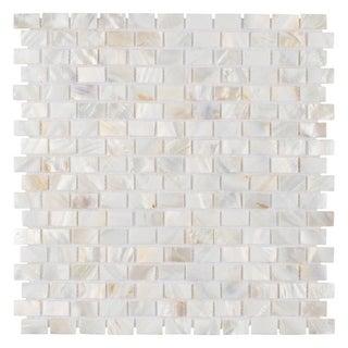 SomerTile 12.25x12.5-inch Seashell Subway White Mosaic Wall Tile (Case of 10)