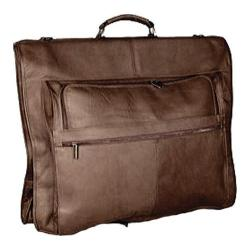 David King Leather 204 Deluxe Garment Bag Cafe