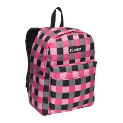 Everest 15-inch Pink Bold Plaid Pattern Printed Backpack