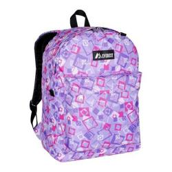 Everest 16-inch Purple/Pink/Lavender Square Pattern Printed Backpack
