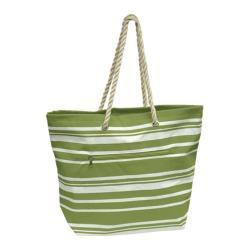 Goodhope P1660 Stripe Tote (Set of 2) Green