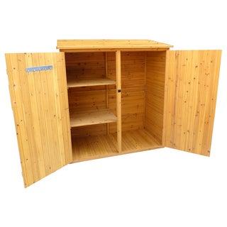 Brown Finish Medium Storage Shed