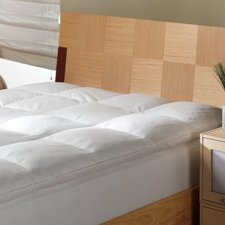 White Goose Featherbed with 375 Thread Count Removable Cover