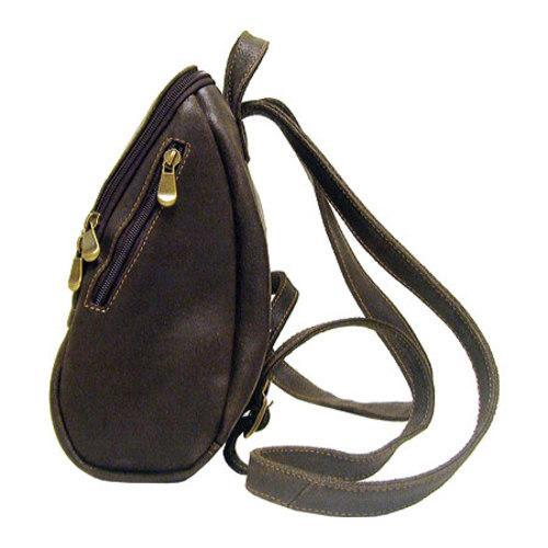 Women's LeDonne DS-030 Distressed Leather Chocolate
