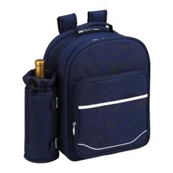 Picnic at Ascot Picnic Backpack for Four Navy/White