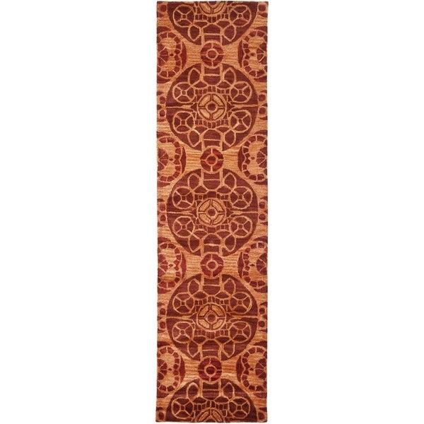 Safavieh Handmade Wyndham Cinnamon Wool Rug (2'3 x 7')