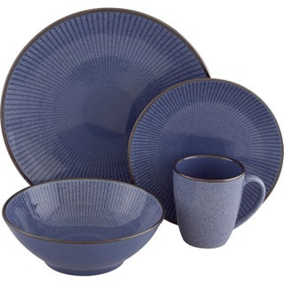 Sango Corona Blue 16-piece Dinnerware Set