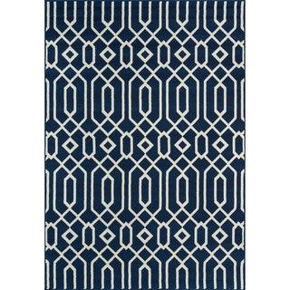 Links Navy Indoor/ Outdoor Rug (3'11 x 5'7)