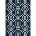Links Navy Indoor/ Outdoor Rug (6'7 x 9'6)