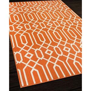 Links Orange Indoor/ Outdoor Rug (7'10 x 10'10)