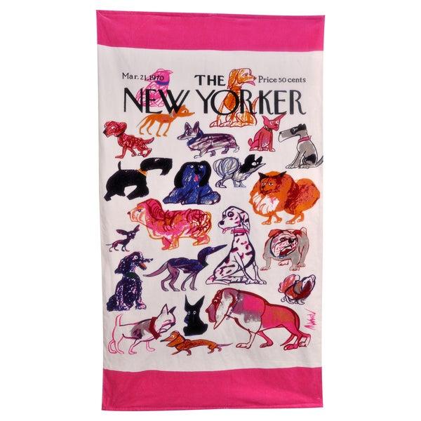 New Yorker Dogs Beach Towel