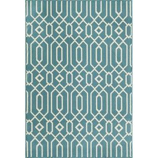 Indoor/Outdoor Blue Links Rug (5'3 x 7'6)
