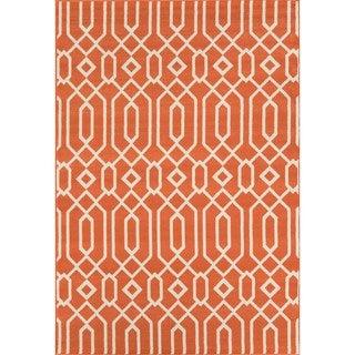 Indoor/ Outdoor Orange Links Rug (5'3 x 7'6)