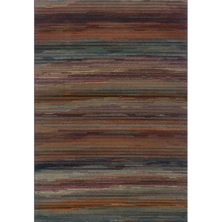 Striped Multi Area Rug (6'7 x 9'6)