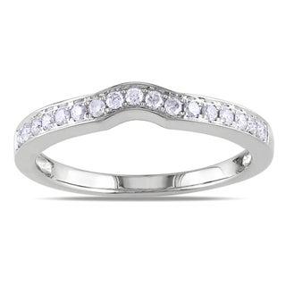 Miadora 14k White Gold 1/4ct TDW Diamond Anniversary Ring (G-H, I1-I2)