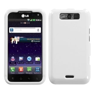 INSTEN Solid Ivory White Phone Case Cover for LG MS840 Connect 4G/ LS840 Viper