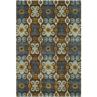 Safavieh Handmade Soho Brown/ Blue Wool Rug (8'3 x 11')