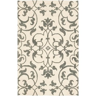 Safavieh Handmade Soho Ivory/ Grey Wool Rug (8'3 x 11')