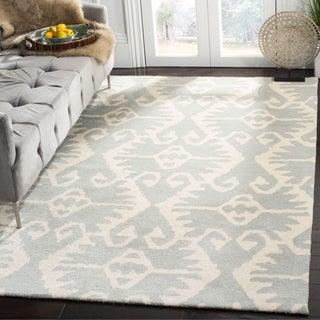 Safavieh Handmade Wyndham Grey/ Ivory Wool Rug (8'9 x 12')