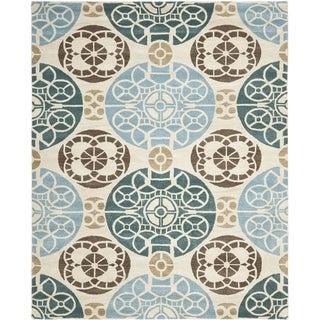 Safavieh Handmade Wyndham Beige/ Blue Wool Rug (8'9 x 12')