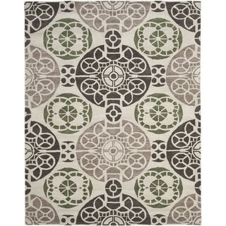 Safavieh Handmade Wyndham Ivory/ Brown Wool Rug (8'9 x 12')