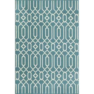 Links Blue Indoor/ Outdoor Rug (7'10 x 10'10)