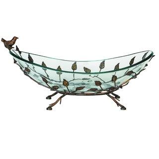 Casa Cortes 'Foliage' Glass Bowl Centerpiece