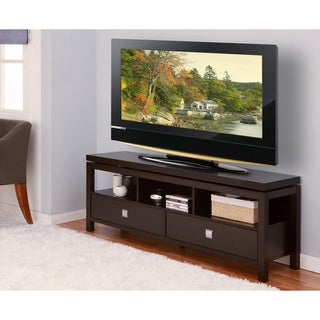 Furniture of America La Cav 60-Inch Cappuccino Finish TV Cabinet/ Console