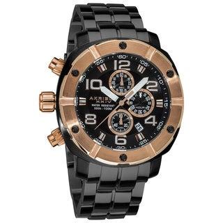 Akribos XXIV Men's Chronograph Divers Stainless Steel Bracelet Watch