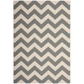 Safavieh Indoor/ Outdoor Courtyard Grey/ Beige Rug (8'11 x 12')