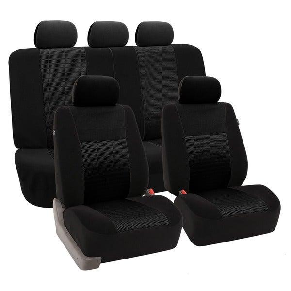 FH Group 'Trendy Elegance' Black Airbag-safe Car Seat Covers (Full Set)