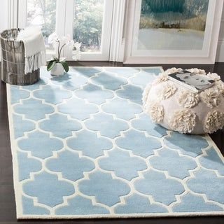 Safavieh Handmade Moroccan Chatham Blue Wool Area Rug (8'9 x 12')