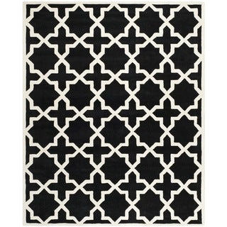 "Safavieh Handmade Cotton-Backed Moroccan Black Wool Rug (8'9"" x 12')"