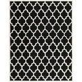 Safavieh Handmade Moroccan Black Wool Geometric Rug (8'9