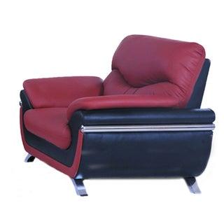 Alica Modern Black/ Orange Faux Leather Chair