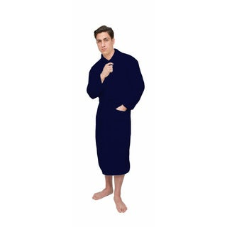 Navy Blue Signature Plush Marshmallow Bath Robe