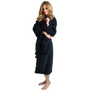 Navy Blue Women's Signature Plush Bathrobe