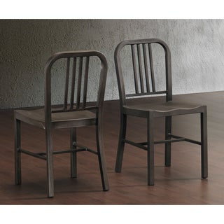 Vintage Metal Side Chairs (Set of 2)