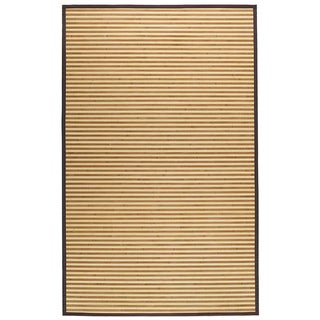 Natural Brown Stripe Bamboo Area Rug (5' x 8')